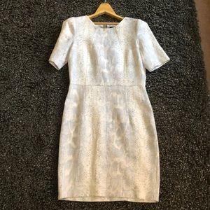Pure linen Valerie Dumaine snakeskin print dress